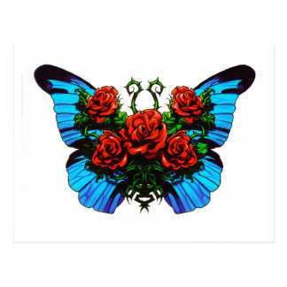 Butterfly Rose Post Card