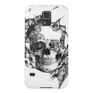 Butterfly Rose Skull from hand illustration Galaxy S5 Cover