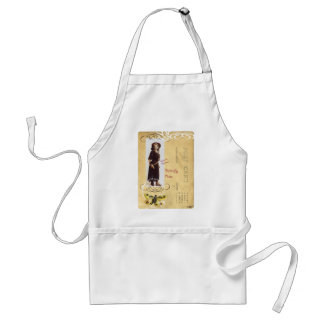 Butterfly Rose Vintage Cowgirl Western Collage Art Apron