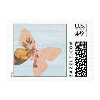 Butterfly Roses Postage Stamp