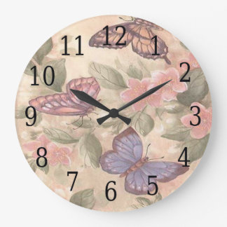 Butterfly Round Clock