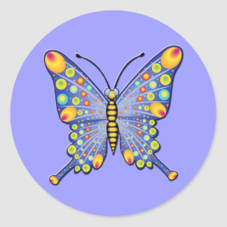 Butterfly Round Stickers