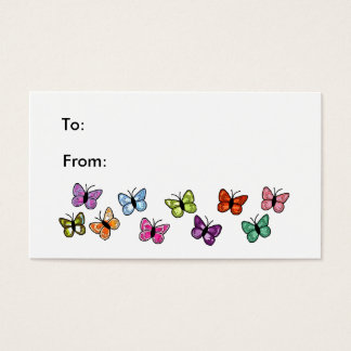 Butterfly row gift tag