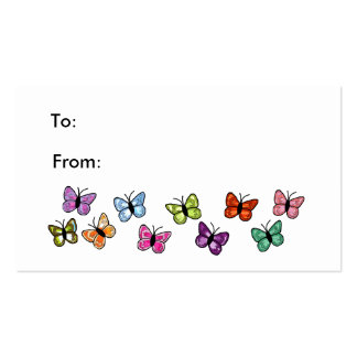 Butterfly row gift tag business card