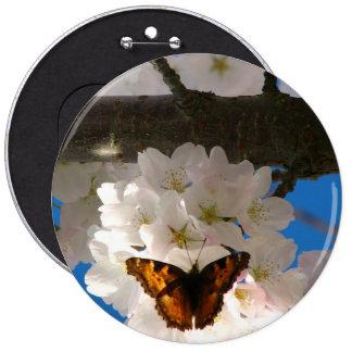 Butterfly Sakura Button