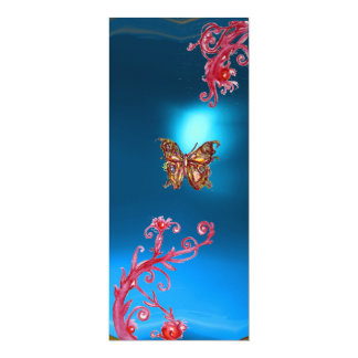 BUTTERFLY SAPPHIRE, blue  bright red pink violet Card