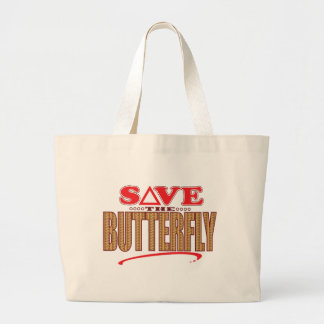 Butterfly Save Large Tote Bag