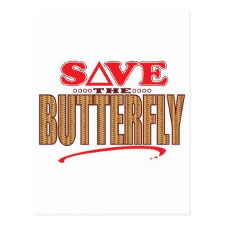 Butterfly Save Postcard