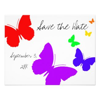 Butterfly Save the Date Custom Invitations