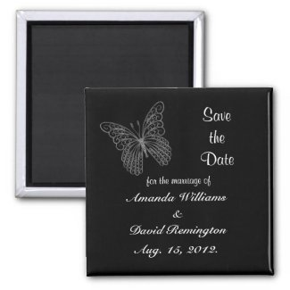 Butterfly Save The Date Magnet magnet