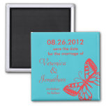 Butterfly Save the Date Magnet