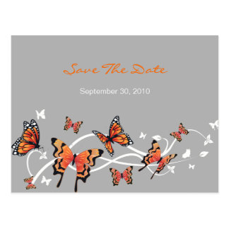 Butterfly Save The Date Wedding Announcement Postcard
