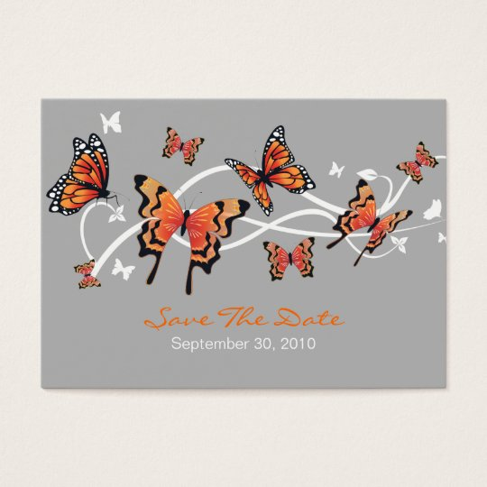 Butterfly Save The Date Wedding Custom MiniCard Business Card