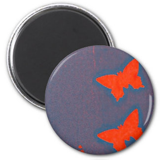 butterfly screenprint 2 inch round magnet