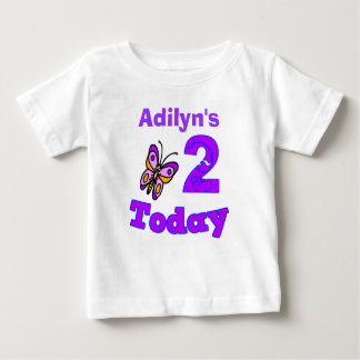Butterfly Second Birthday Girl Shirt