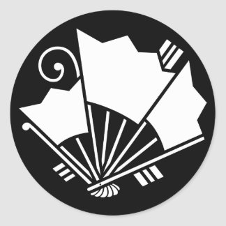 Butterfly-shaped fans (Ageha) Classic Round Sticker