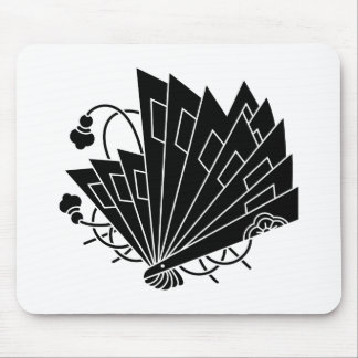 Butterfly-shaped fans (Hi-ogi cho) Mouse Pad