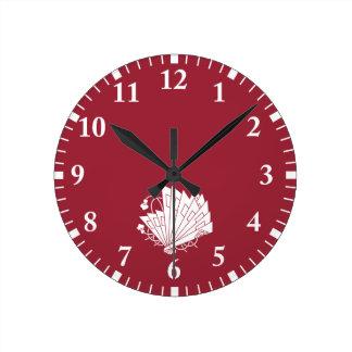 Butterfly-shaped fans (Hi-ogi cho) Round Clock