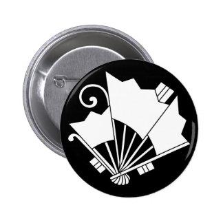 Butterfly-shaped fans (Ogi cho) Pinback Buttons
