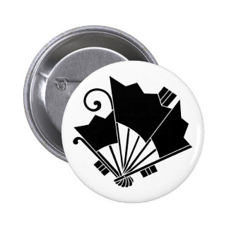 Butterfly-shaped fans (Ogi cho) Button