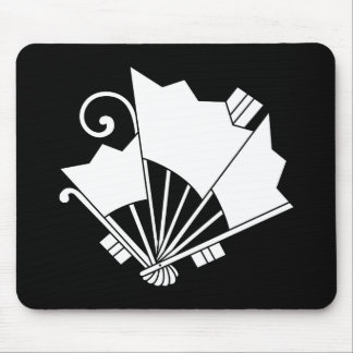 Butterfly-shaped fans (Ogi cho) Mouse Pad