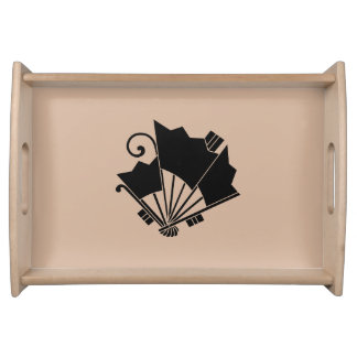 Butterfly-shaped fans (Ogi cho) Serving Tray