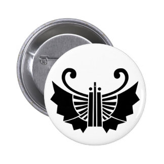 Butterfly-shaped fans (Ogi kocho) Pinback Button