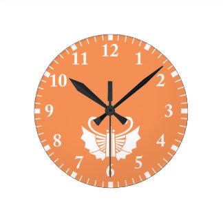 Butterfly-shaped fans (Ogi kocho) Round Clock