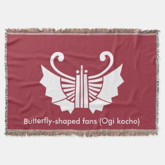 Butterfly-shaped fans (Ogi kocho) Throw Blanket