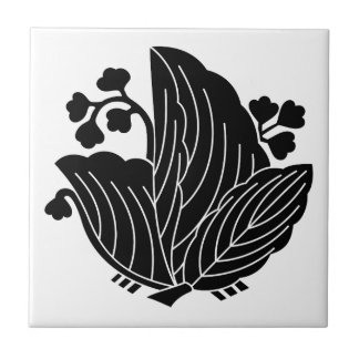 Butterfly-shaped paulownia ceramic tile