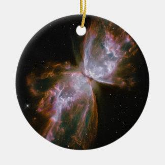 Butterfly Shaped Planetary Nebula Ceramic Ornament