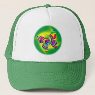 Butterfly Shaped Rainbow Twirl Trucker Hat
