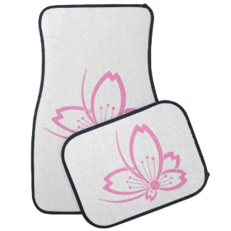 Butterfly-shaped shadowed Cherry blossom Car Floor Mat