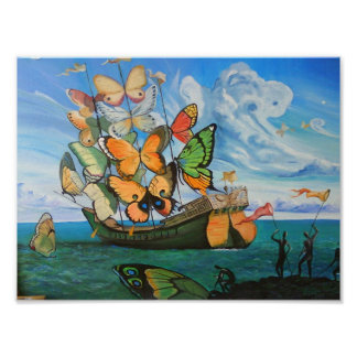 Butterfly ship poster
