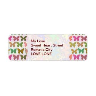 Butterfly Show Return Address Label