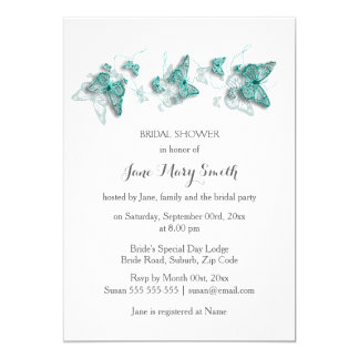 Butterfly shower summer party card