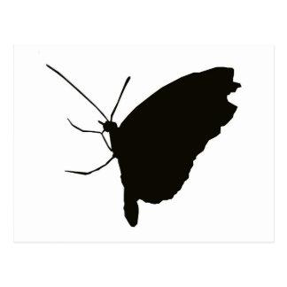 Butterfly silhouette postcard