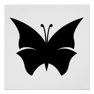 Butterfly Silhouette Print