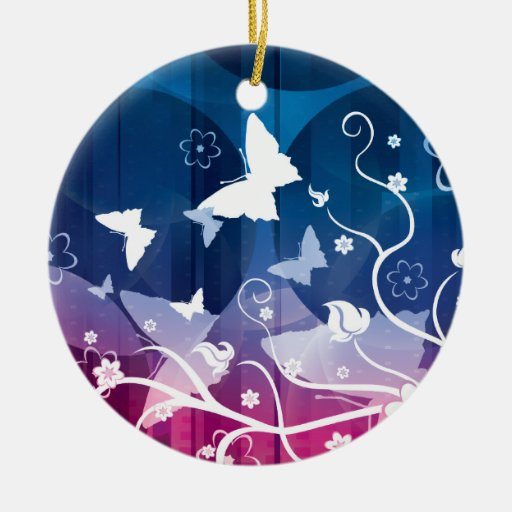 Butterfly Silhouettes Christmas Tree Ornament
