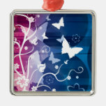 Butterfly Silhouettes Christmas Tree Ornaments
