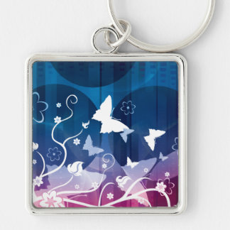 Butterfly Silhouettes Keychain