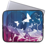 Butterfly Silhouettes on Blue and Purple Computer Sleeves
