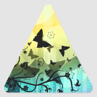 Butterfly Silhouettes Triangle Sticker
