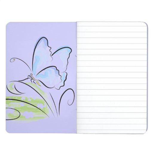 Butterfly sitting on grass over flower field journals