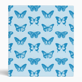 Butterfly sketch, cerulean and sky blue binder