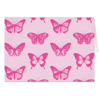 Butterfly sketch, light pink and fuchsia stationery note card