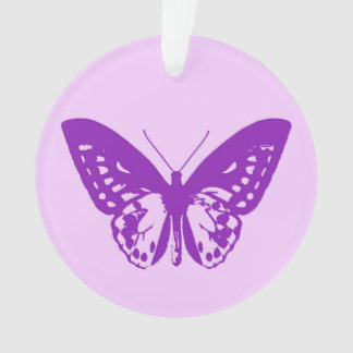 Butterfly sketch, orchid pink and violet ornament
