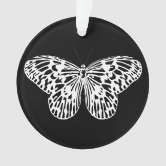 Butterfly sketch, white and black ornament