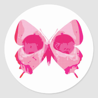 Butterfly Skull Classic Round Sticker