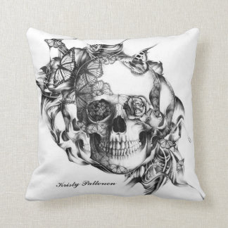 Butterfly Skull LARGE pillow